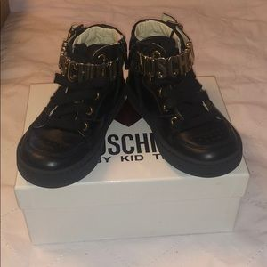 Moschino leather sneakers kids